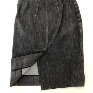 Miu Miu 100 percent cotton chambray/denim skirt